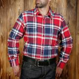 1937 Roamer Shirt flannel red blue - Odds and Ends