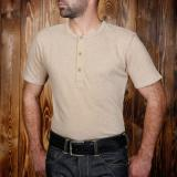1954 Utility Shirt Short Sleeve oatmeal  - Odds & Ends