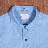 1940 USN Chambray Shirt Norfolk Blue