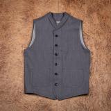 1908 Miner Vest 13oz grey denim