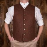 1923 Buccaneer Vest rust brown wool