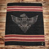 1969 Denakatee Depakatè Wool Blanket faded black