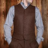 1923 Buccaneer Vest herringbone brown