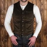 1937 Roamer Vest heavy cord brown