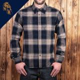 1937 Roamer Shirt blue beige check flannel