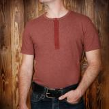 1954 Utility Shirt Short Sleeve rusty red - Odds & Ends
