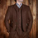 1923 Buccaneer Jacket herringbone brown