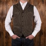 1908 Buccaneer Vest hickory stripe brown